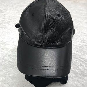 AJM International Leather Baseball Cap